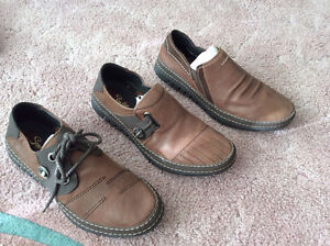 Man's casual leather shoes