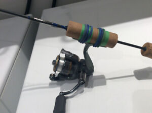 Canne A pêche sur glace TUNED UP CUSTOM ROD +shimano  500!