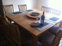 Pub style dining table 8 chair set