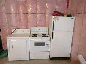 Dryer, Stove, & Fridge $100 each