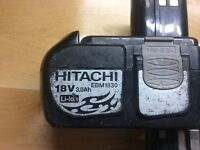 Hitachi charger and 2 batteries