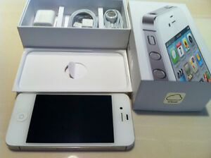 iPHONE 4S 16GB WHITE (koodo , Telus , Public Mobile)