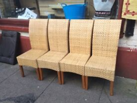 Four hi back chairs