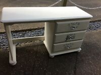 Annie Sloan white desk/dressing table
