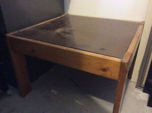 Pine square coffee table
