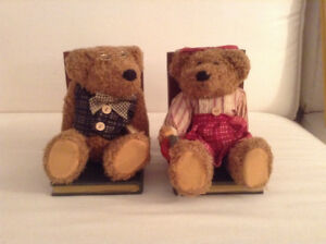 Never Used Stuffed Toy Teddybear Bookends