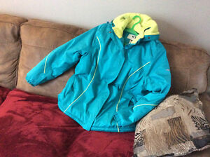 Teal blue ladies  winter jacket from smoke free home