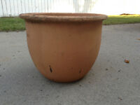 LARGE  CLAY  POTS    $5.  Each
