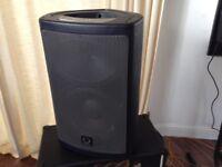 TURBOSOUND MILAN MIO POWERED 650 watt speakers NEW BOXED.
