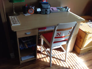 Kids desk and Antique Chair