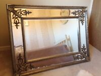 Antique Style Large Ornate Wall Bevelled Mirror