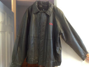 New CN Rail Men's Leather Jacket and Parka