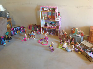 Barbies and Barbie accessories