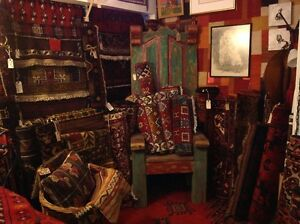 Wool hand knotted Persian carpets, Kilims, pillows