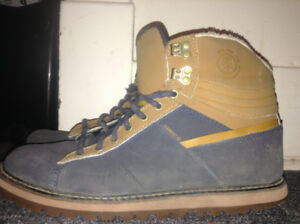 Blue and Brown Swede Element Boots