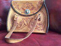 Hand made leather bag