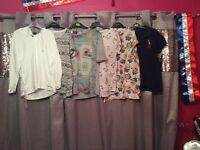 Selection of ladies size 10-12 tops