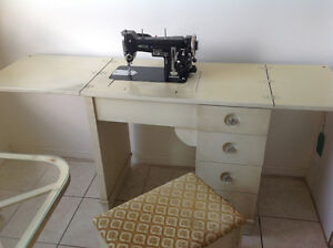 Sewing desk/cabinet , glass / metal kitchen Table
