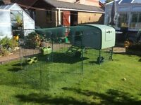 OMLET EGLU CUBE, CHICKEN HOUSE WITH 3 METRE RUN, GLUG DRINKER AND GLUG FEEDER hutch cage allotment