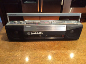 Vintage Retro 1980s Boom Boxes Stereo Cassette Players