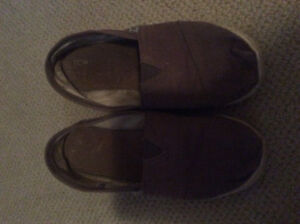 Taupe Toms Gently used