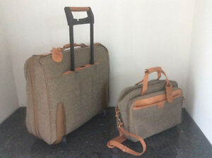 """HARTMANN Quality luggage. Leather and Tweed carry on sizes 22"""" Windsor Region Ontario image 1"""