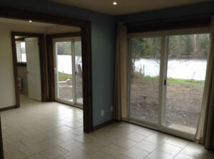 Beautiful walk-out basement apartment with view of Seguin River