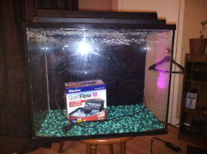 13 gallon fish tank,rocks,lid,and brand new water filter $50