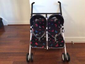 Silver Cross Dolls Pop Twin Pushchair - Butterfly print