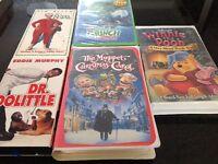 5 Disney VHS Christmas Movies