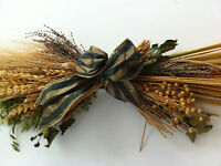 Decorative Dried Flowers Arrangement Swag Wheat Barley Lavender