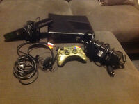 XBOX360/kinect, manette, microphone xbox live et collection jeux