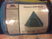 Trespass pyramid tent.