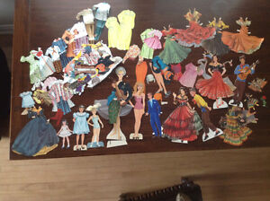 VINTAGE ASST'D PAPER/ CARDBOARD DOLLS AND LOTS OF CLOTHING