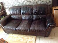 Barker & Stonehouse vintage retro style, quality leather sofa