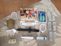 Giant bundle of Wii accessories and Family Trainer game