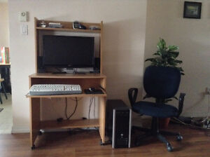 Desktop computer desk and chair for sale