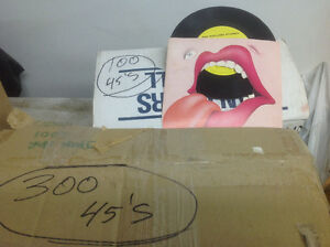 Records,total 680-45's sold as a pkg lot only