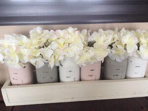 Mason Jar Planter Box Centre Piece