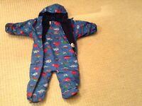 Jojo Maman Bebe Boys Fleece Lined Snow Suit - (6-9 months)