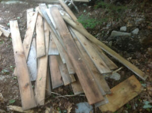 A selection of used lumber