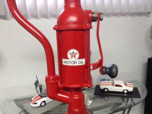 Texaco vintage oil hand pump