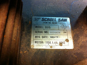 "15"" Scroll saw London Ontario image 2"