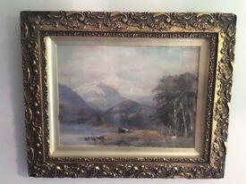 19th century Scottish school watercolour mountain scene
