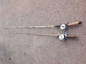 Vintage 2 fishing rods with spools - each $25