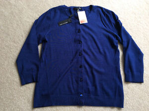Woman's' CARDIGAN SWEATER - Navy Size S/M - NEW WITH TAGS