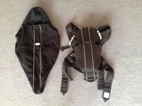 Baby Bjorn front carrier with matching raincover