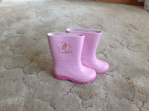 Girl's Size 11 Barbie Rubber Boots