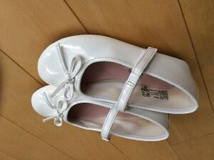 Worn Once - White patent shoes size 8