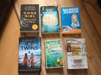 6 Books For Sale - Good condition-Only read once.